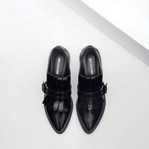 Zara Patent Leather Bluchers